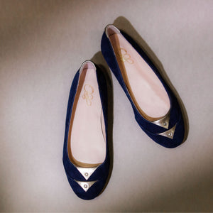 The Julie Flats - Navy