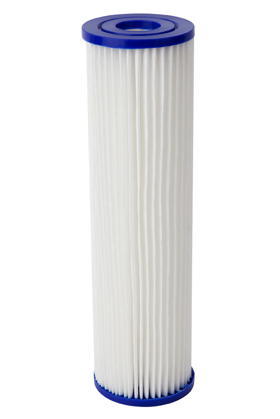 "10"" x 2.5 - 20uM Sediment Pleated Filter Cartridge - Aqua Max Water Filters"