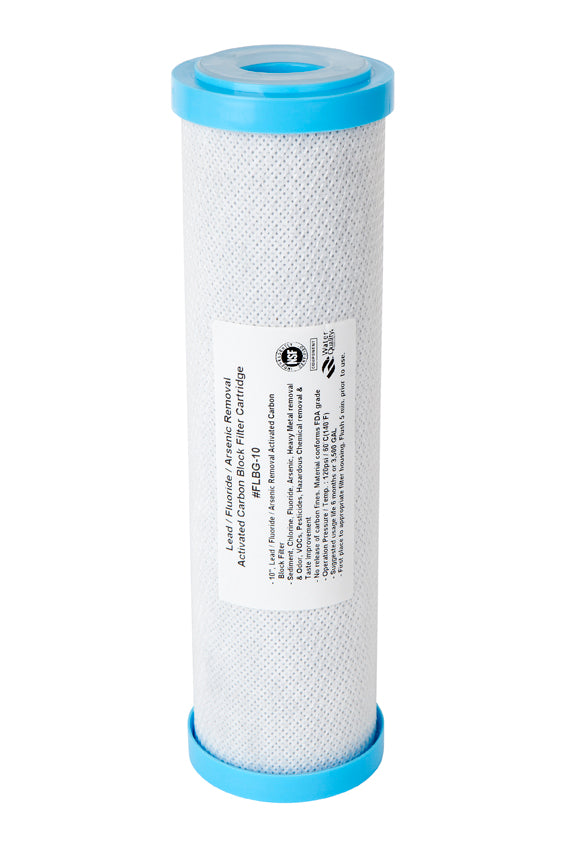 "10"" x 2.5 - 1uM Fluoride Carbon Filter Cartridge - Aqua Max Water Filters"