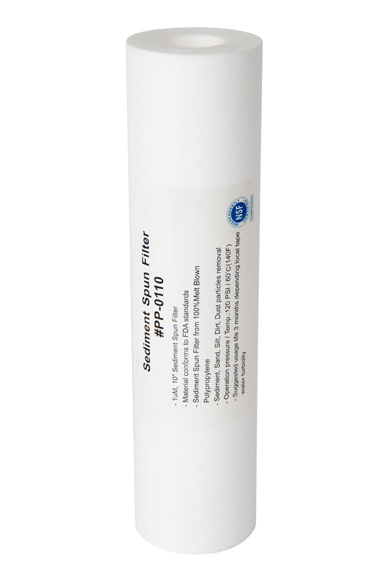 "10"" x 2.5 - 1uM Sediment Filter Cartridge - Aqua Max Water Filters"