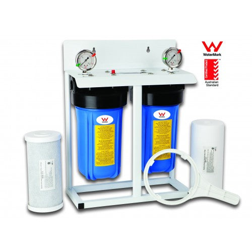 "2 Stage 10"" Big Blue Whole House System - Aqua Max Water Filters"
