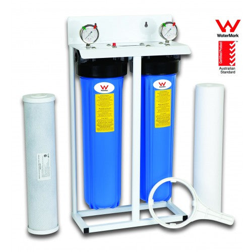 "2 Stage 20"" Big Blue Whole House System - Aqua Max Water Filters"