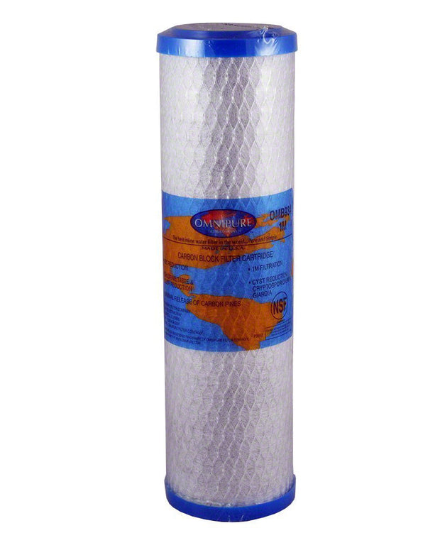 "10"" x 2.5 1uM Omnipure USA Carbon Filter - Aqua Max Water Filters"
