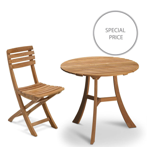 Vendia set - 3 chairs 1 table