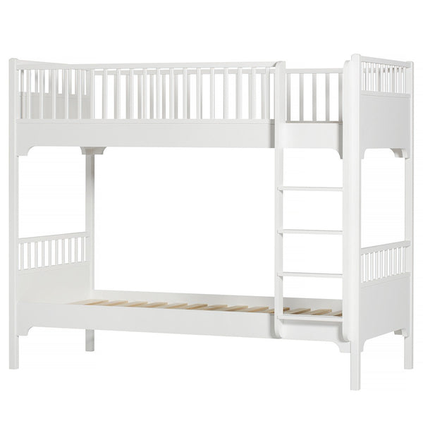 Seaside bunk bed with vertical ladder