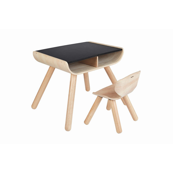 Table & Chair - Black top