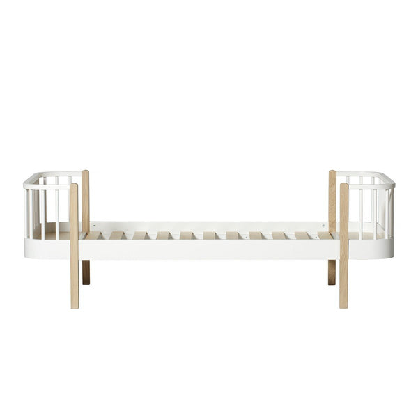 Wood Collection Bed, 90x200 cm, white/oak