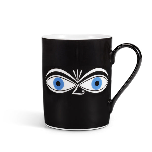 Girard Eyes coffee mug, blue