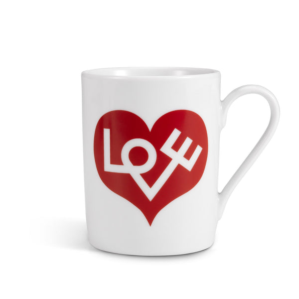 Girard Love Heart coffee mug, red