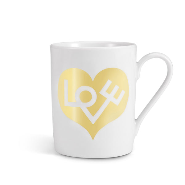 Girard Love Heart coffee mug, gold