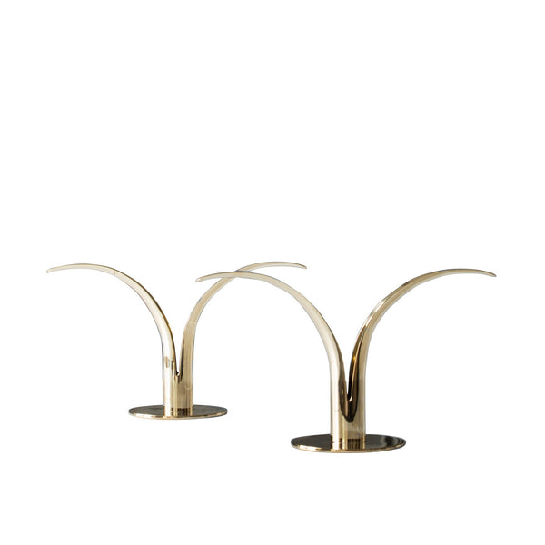 The Lily Candleholder - Brass