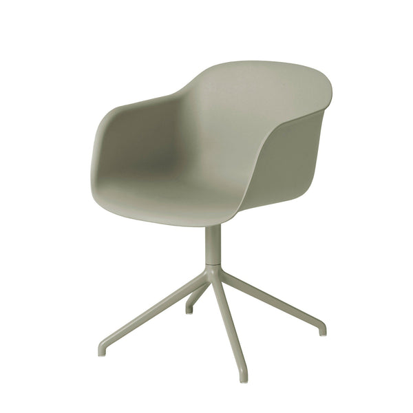 Fiber armchair, swivel base