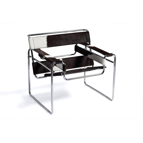 Wassily lounge chair, black cowhide - Quickship