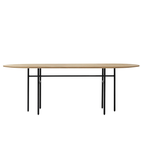 Snaregade oval table, Black/Oak 95x210cm