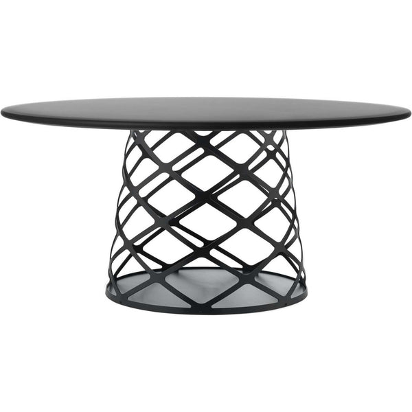 Aoyama Coffee Table - Black Laminate, Black Semi Matt Base