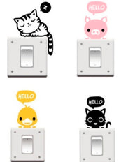 STICKERS LUZ ANIMALES