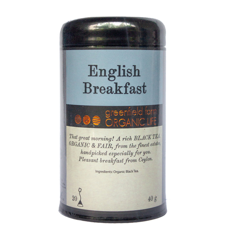 Greenfield English Breakfast FBOP 20PTB Black Tin