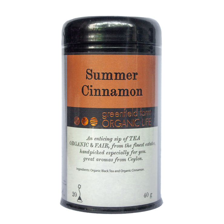 Greenfield Cinnamon Tea-Summer Cinnamon 20PTB Black Tin