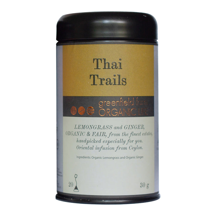 Greenfield Lemongrass & Ginger-Thai Trails 20PTB Black Tin