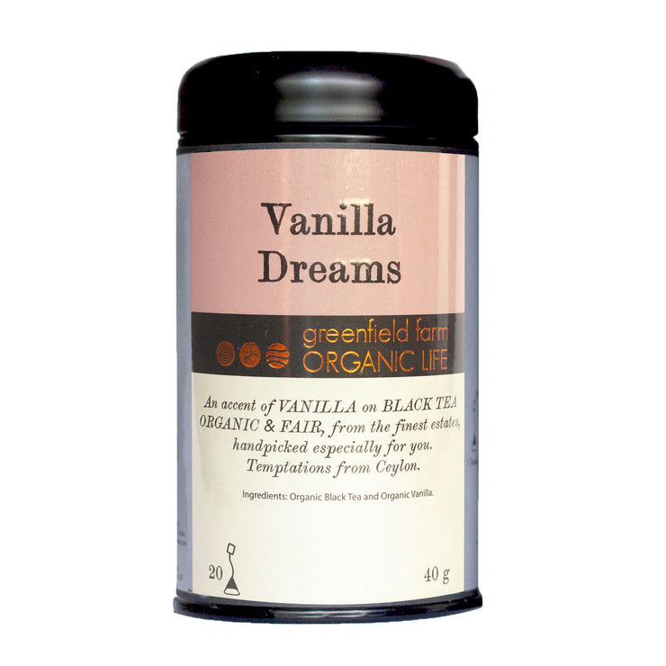 Greenfield Vanilla Tea-Vanilla Dreams 20PTB Black Tin