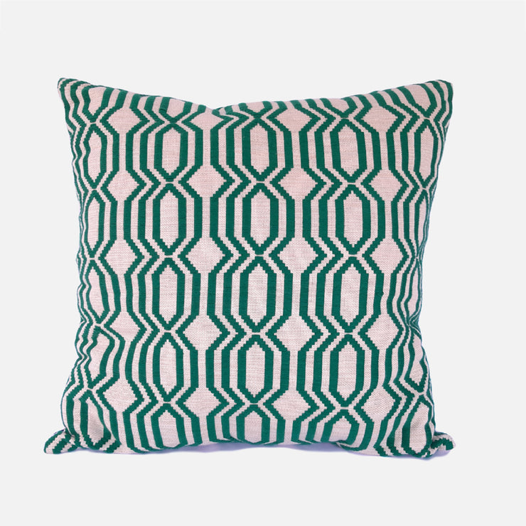 Lattice Rata Emerald Green Cushion Cover
