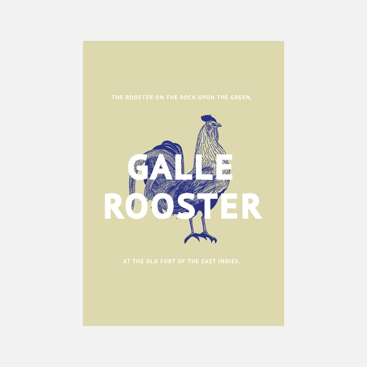 City Graphics Galle Rooster Poster