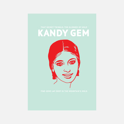 City Graphics Kandy Gem Poster