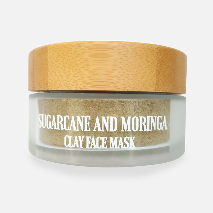 SUGARCANE AND MORINGA CLAY FACE MASK
