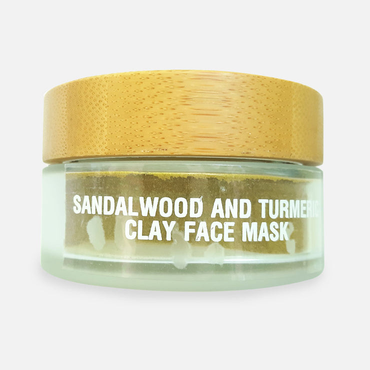 SANDALWOOD AND TURMERIC CLAY FACE MASK