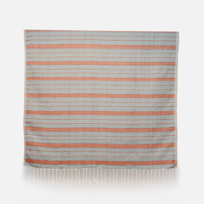 BIRDS EYE THROW -BLUE & ORANGE