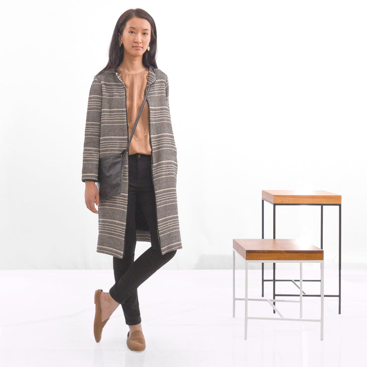 Striped Cardigan Coat