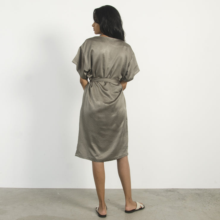 Olive Boat Neck Dress