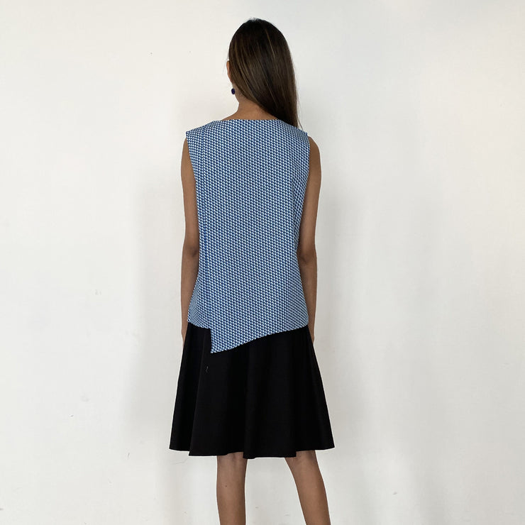 Sleeveless Tunic Top with Asymmetric Back Detail