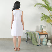 A Shape Tank Dress- Off White