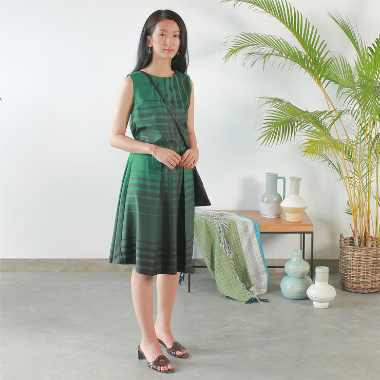 Green and Black Check Skirt