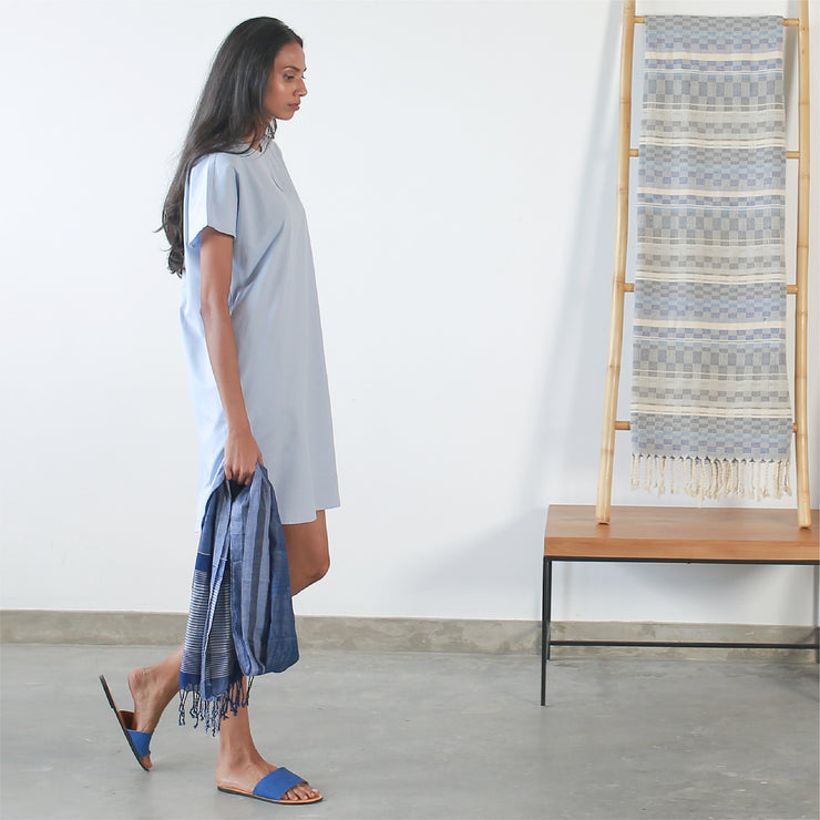 Maxi Tee Dress - Light Blue