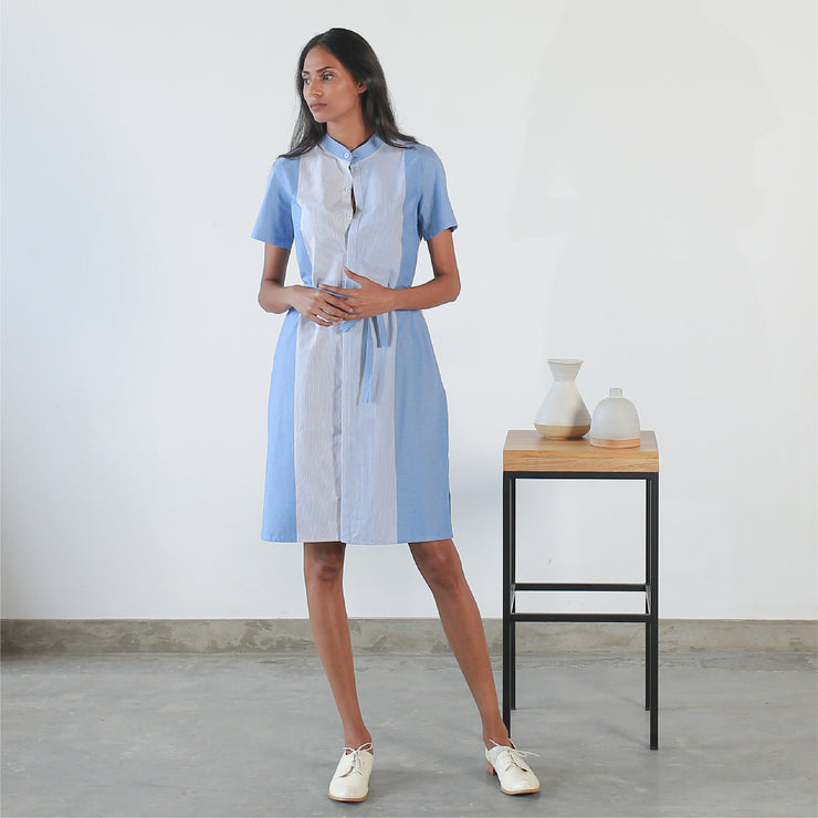 Short Sleeved Shirt Dress V3