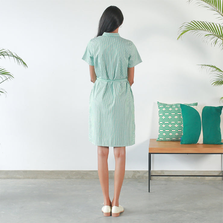 Short Sleeved Shirt Dress V2