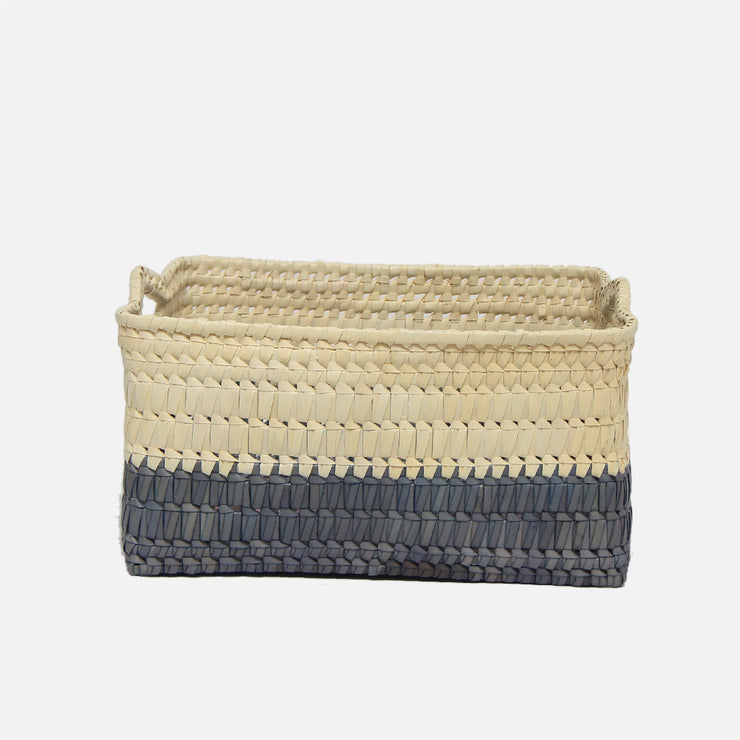 Storage Basket with Handles M  Grey /Natural