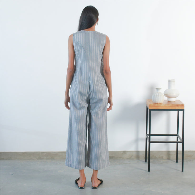 Jumpsuit -  Beige Strip