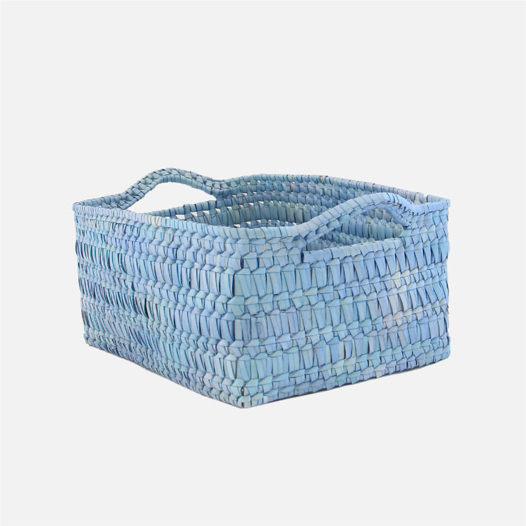 Storage Basket with Handles M Denim Wash