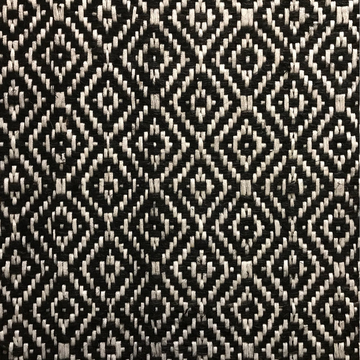 Rug Bird's Eye Diamond Black and White