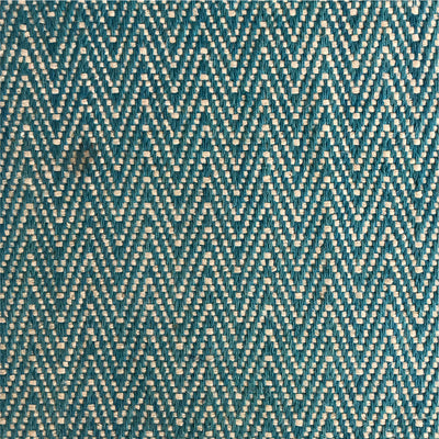 Rug Chevron Green and Ecru