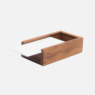 Mina Rectangular Box Small Wood/White