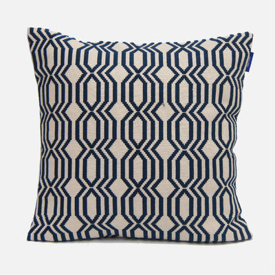 Lattice Rata Navy Cushion Cover