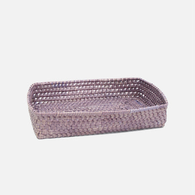 Palmyrah Rectangular Bread Basket Grey