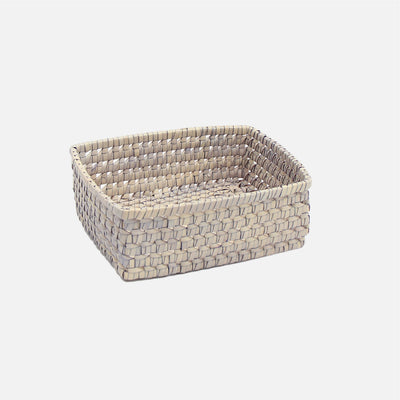 Palmyrah Square Bread Basket Grey