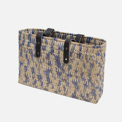 Palmyrah Kopay Beach Basket Grey / Natural Speckle