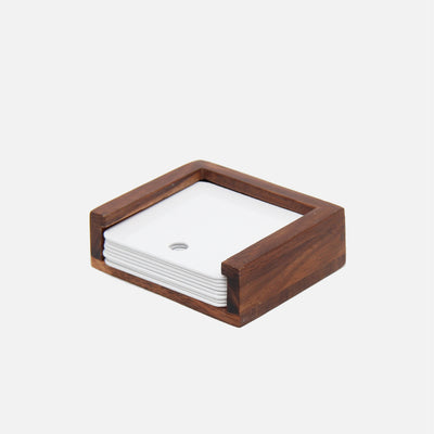 Mina Coasters Wood/White