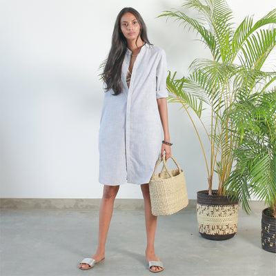 Shirt Dress - Grey
